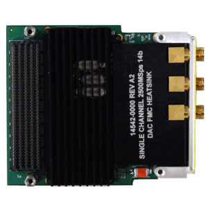 Rugged Dual-Channel 2.5 GSps 14-Bit DAC FMC