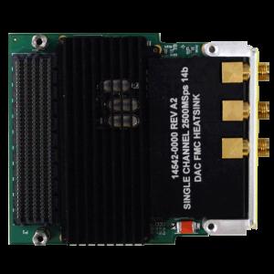 Rugged Dual-Channel 2.5 GSps 14-Bit DAC FMC