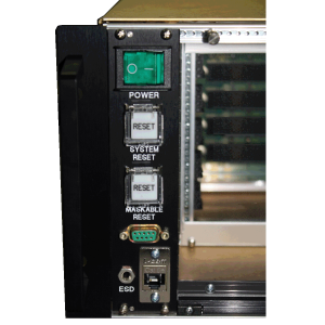 4 Slot OpenVPX 6U Chassis Front Panel
