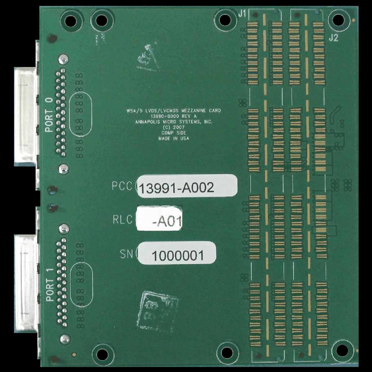 High Performance Rugged LVDS 2 5V-LVCMOS Mezzanine Card