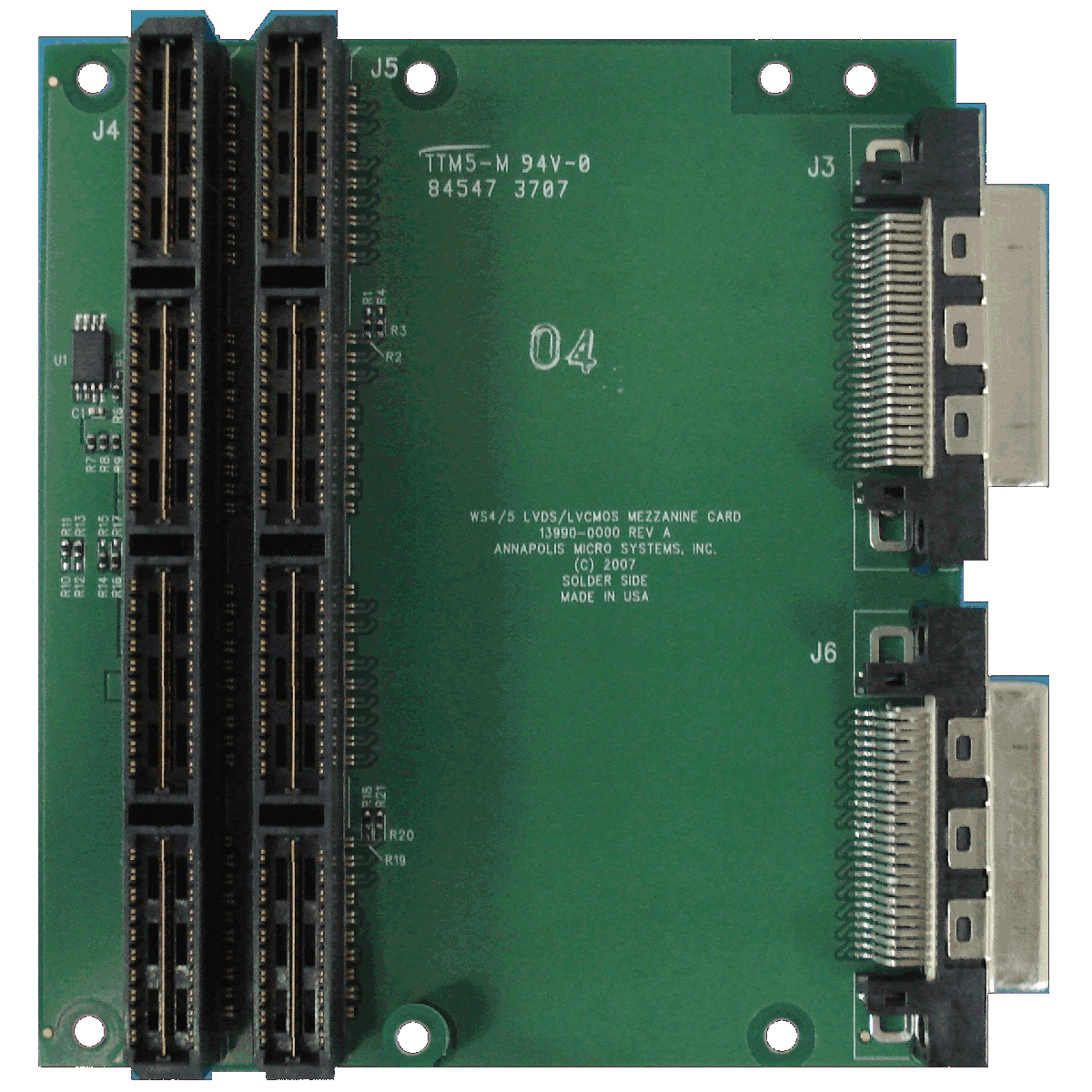 High Speed LVDS/2.5V-LVCMOS Mezzanine Card