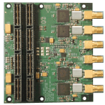 Quad Channel 600MSps 16-Bit DAC Mezzanine Card