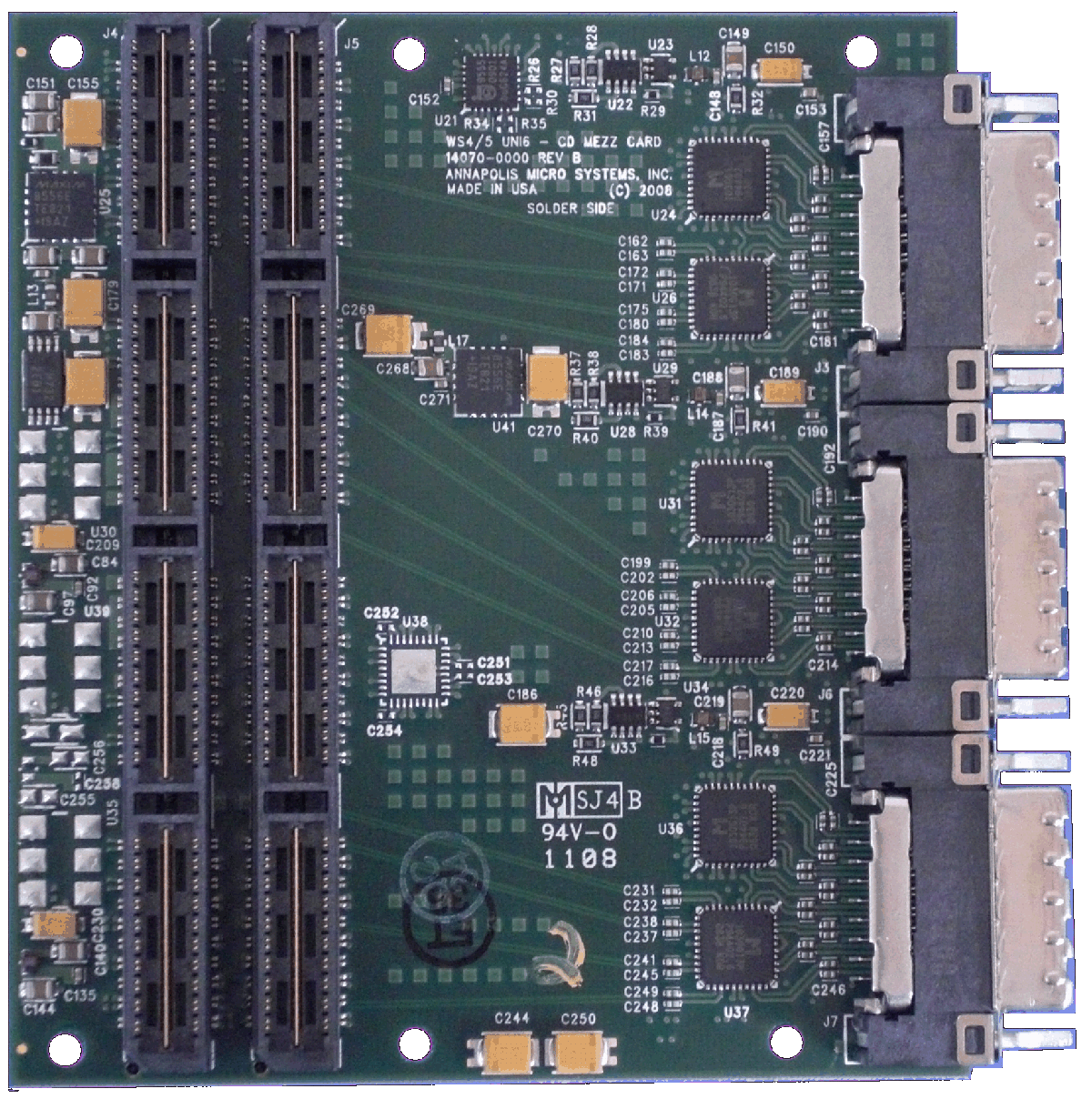 Rugged Universal 6 Gigabit Serial CD Mezzanine Card
